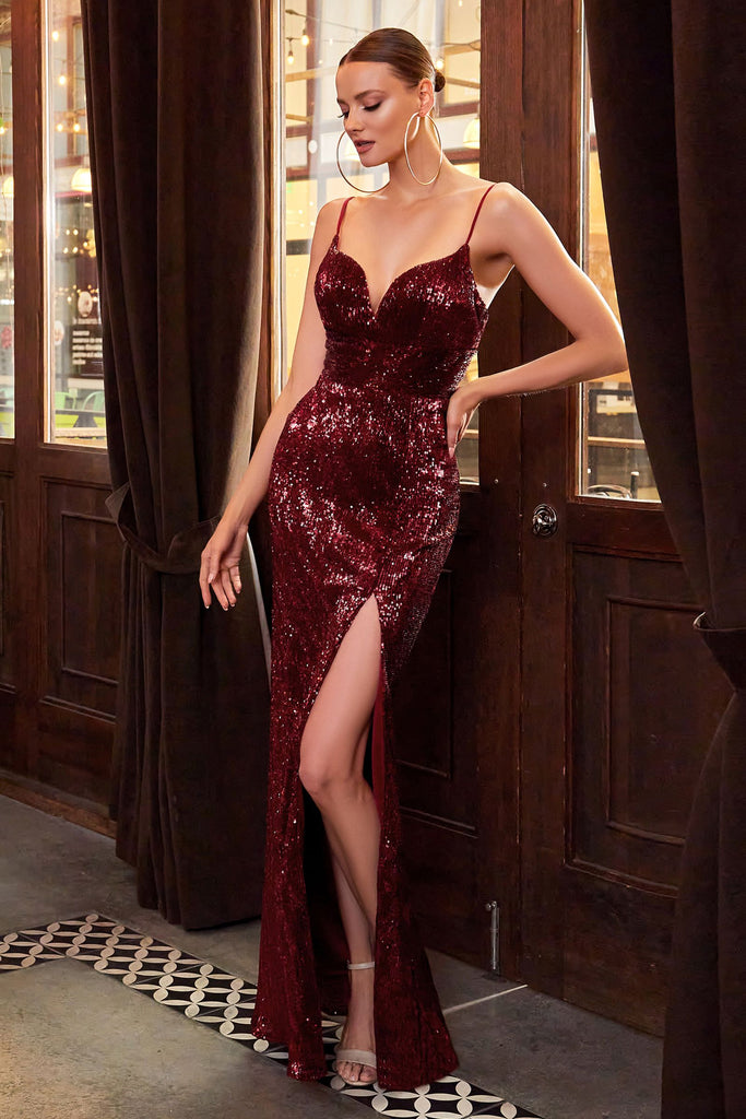 The sousa long fitted formal dress