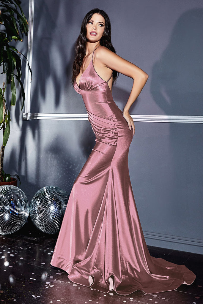 The Inez bridesmaid long fitted dress
