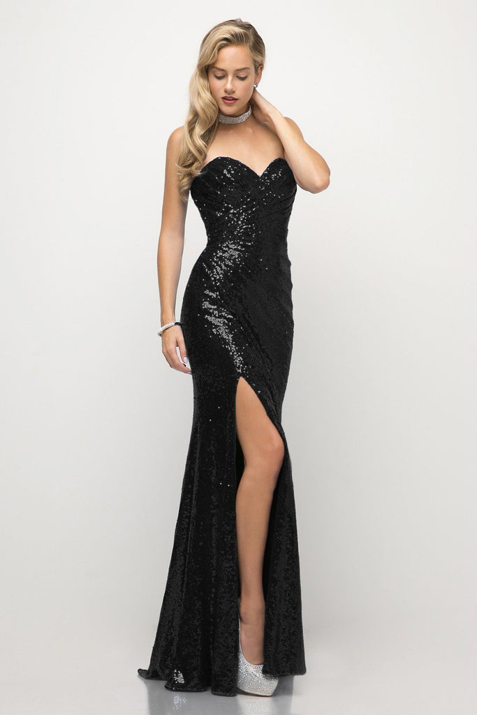 Cinderella CH561 strapless sequins prom dress