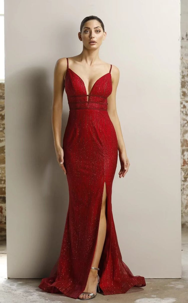 jadore red sequin prom dress jx1124