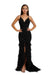 Portia and Scarlett PS6826 black feather dress