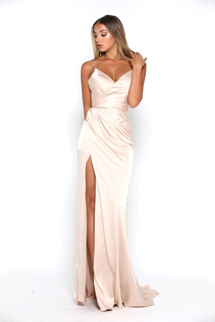 8e9366c1b6b1 Portia and Scarlett Stephanie Gown satin prom dress - Mia Bella Couture