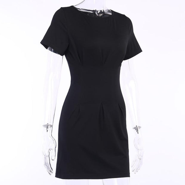 O-Neck Short Sleeve Dress -  bydivstore11