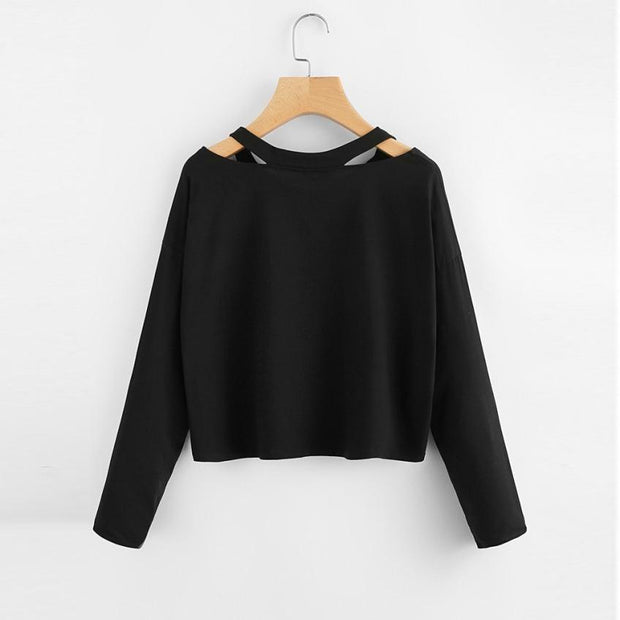 Women's Short V-Neck Sweatshirt - ByDivStore