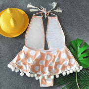 Dot Tassel Swimsuit -  bydivstore11