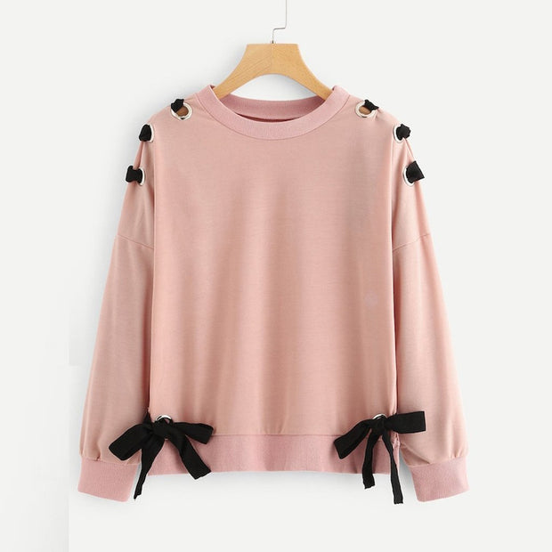 Women's Bow Sweatshirt - ByDivStore