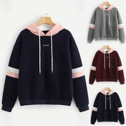 Women's Striped Patchwork Sweatshirt - ByDivStore
