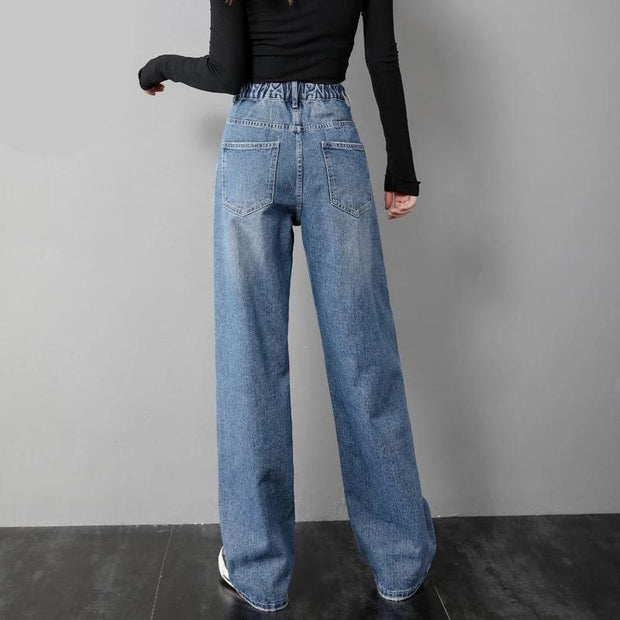 Women's Straight Wide Leg Jeans - ByDivStore
