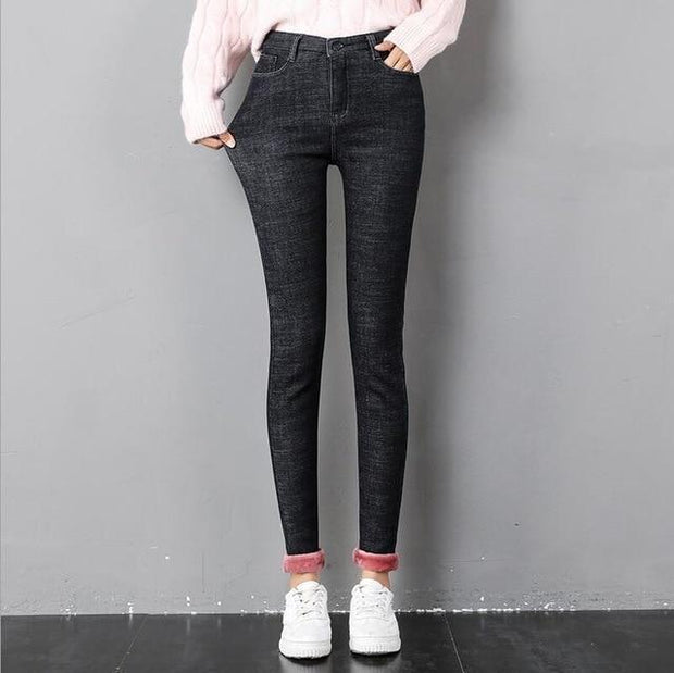 Women's Winter Velvet Warm Skinny Pants - ByDivStore