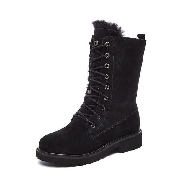 Women's Leather SnowBoots - ByDivStore