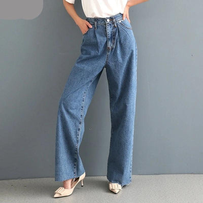 Women's High Waist Wide Leg Jeans - ByDivStore