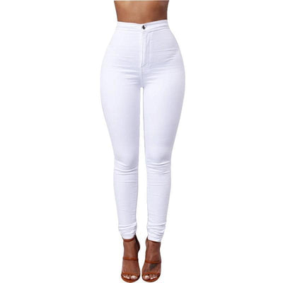 Women's Pencil Stretch Denim Pants - ByDivStore