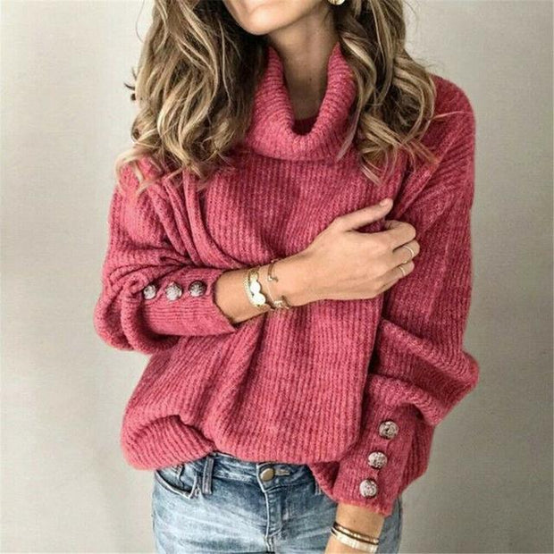 Turtleneck Warm Knitted Sweater -  bydivstore11