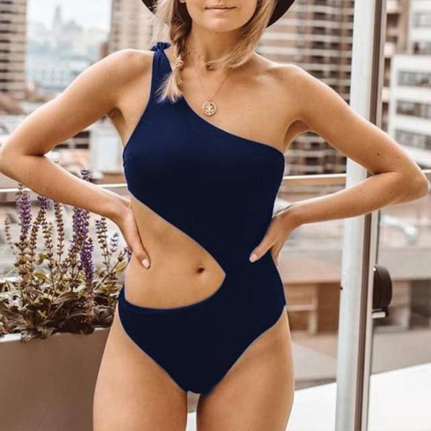One Shoulder Swimsuit -  bydivstore11