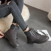 Women's Short Fur Warm Snow Boots - ByDivStore