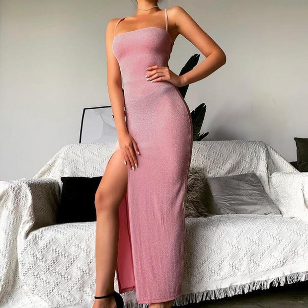 Pink Backless Dress -  bydivstore11