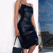 Leather Bodycon Dress -  bydivstore11