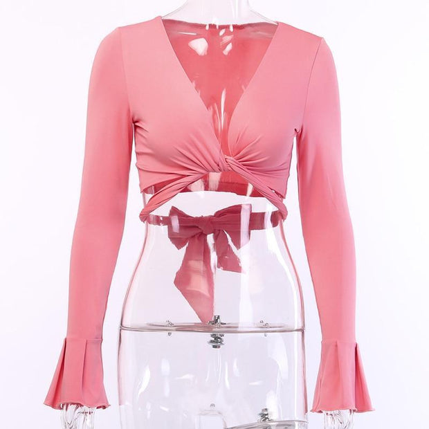 Criss Cross Blouse -  bydivstore11