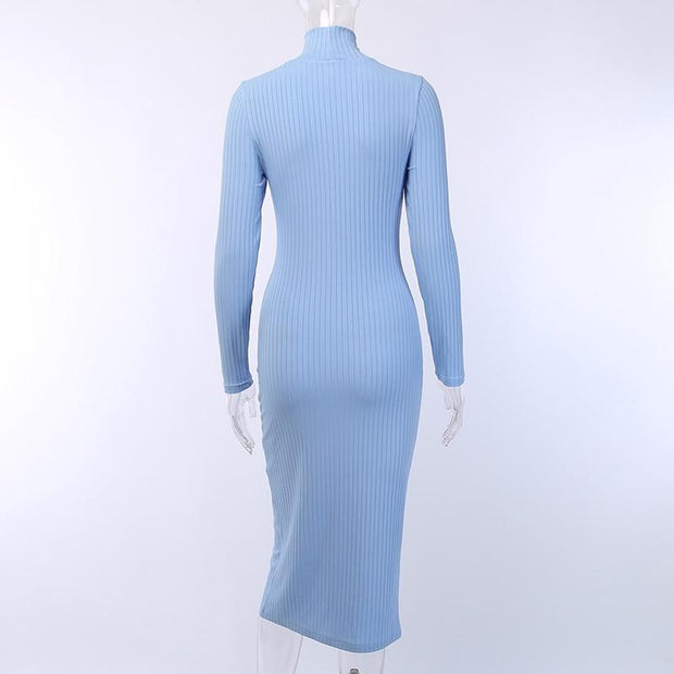 Ribbed Knitted Dress -  bydivstore11