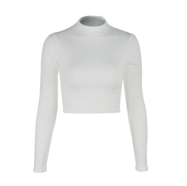 Cropped Turtleneck Sweater -  bydivstore11