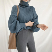 Turtleneck Loose Sweater -  bydivstore11