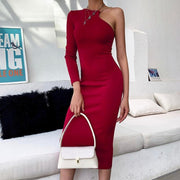 One Shoulder Party Dress -  bydivstore11