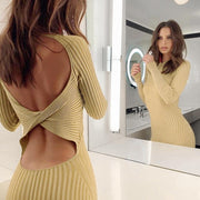 Backless Knitted Dress -  bydivstore11