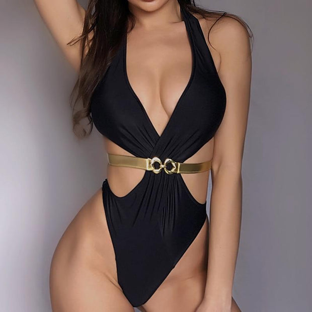 V-Neck Swimsuit -  bydivstore11