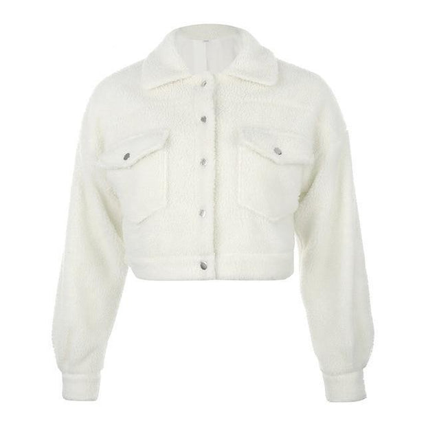Women's Wool Fleece Jacket - ByDivStore