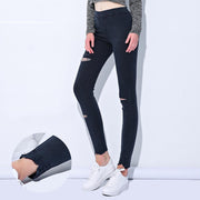Women's Ripped Denim High Waist Skinny Jeggings - ByDivStore