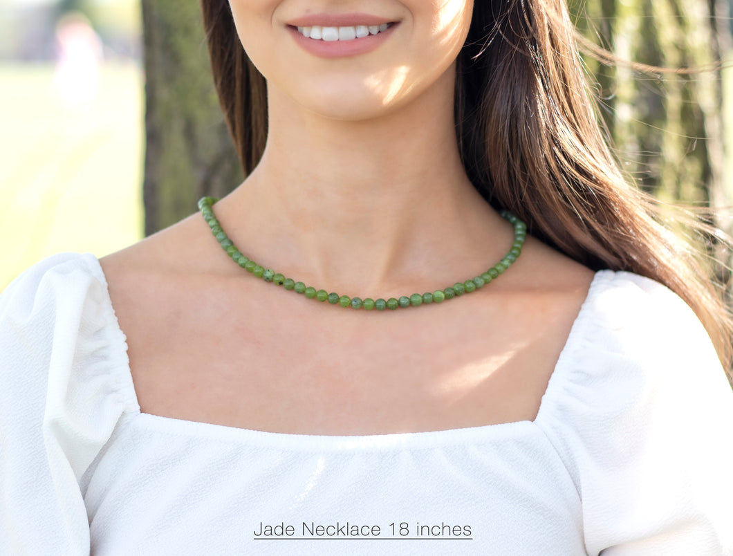 Jade Necklace Beaded Green