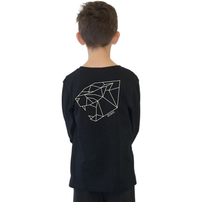 Stencil Range - Tiger Long Sleeve Tee Long Sleeve Tee  - Black or White