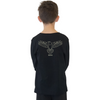 Stencil Range - Eagle Long Sleeve Tee  - Black or White