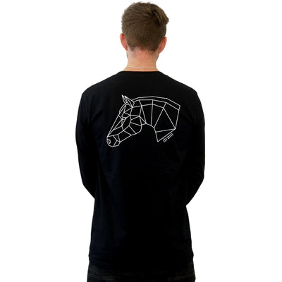Stencil Range - Horse Long Sleeve Tee - Various colours