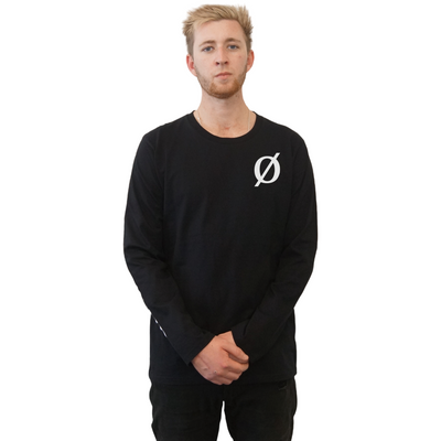 Logo Long Sleeve Tee - Black or White.