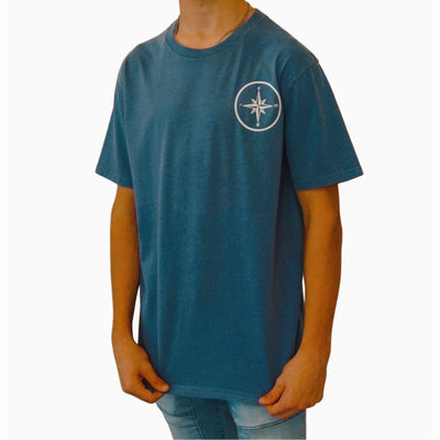 Faded Blue Compass Tee