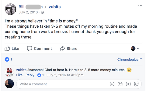 Zubits save time money