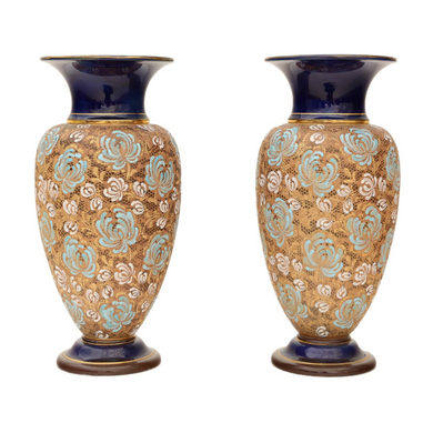 Large Pair of Royal Doulton Slater Vases