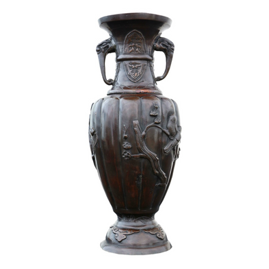 Early Meiji Period Japanese Bronze Vase