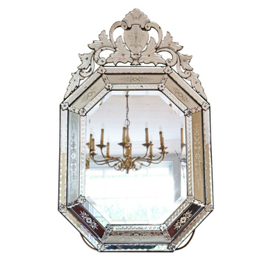 19th Century Large Venetian Glass Mirror