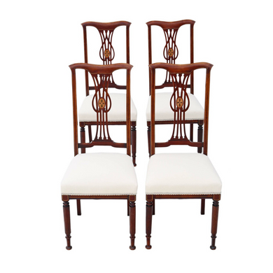 Inlaid Mahogany Dining Chairs