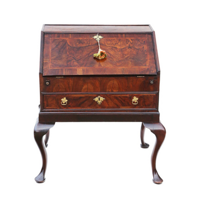 18th Century Georgian Burr Walnut Bureau Desk