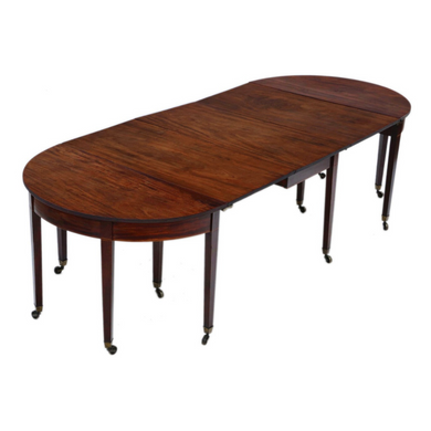 Cuban Mahogany Extending Dining Table