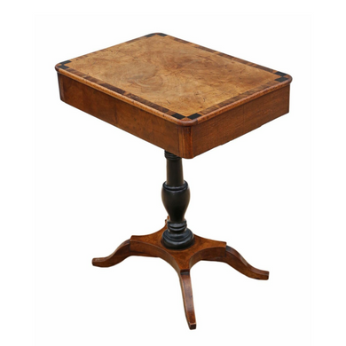 19th Century Crossbanded Walnut Tea Table
