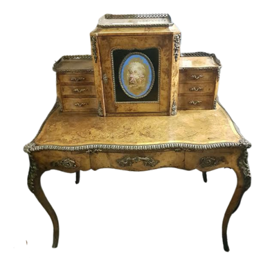 Victorian Inlaid Walnut 'Bon Du Jour' Desk