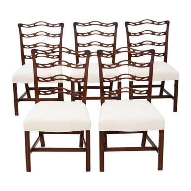 Set of 5 Georgian Revival Mahogany Dining Chairs