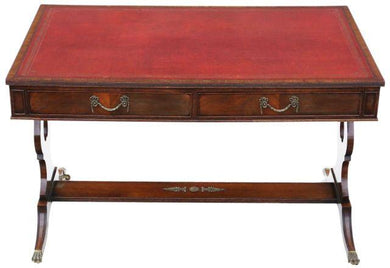19th Century Revival Flame Mahogany Writing Desk