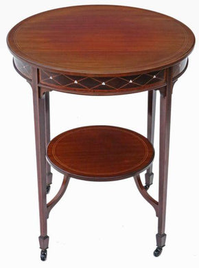 Victorian Inlaid Mahogany Circular Side Table