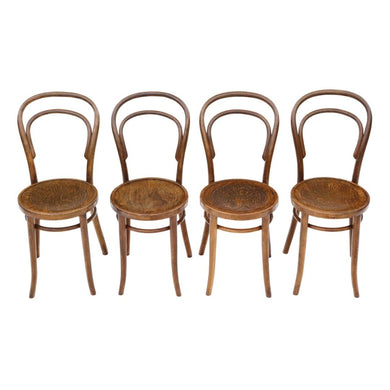 Set of 4 Early 20th century Bentwood Kitchen Dining Chairs