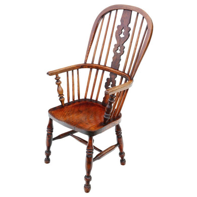 Victorian Ash and Elm Windsor Armchair